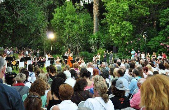 The gardens of Athens-concert in Alsos Pagratiou